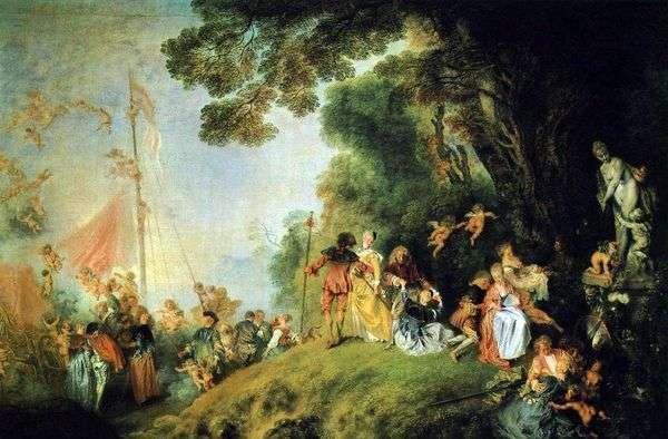 Прибытие на остров Киферу   Жан Антуан Ватто