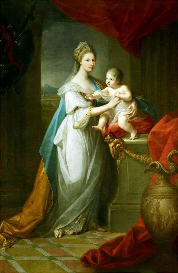 Принцесса Уэльса Августа Ганноверская с сыном   Ангелика Кауфман