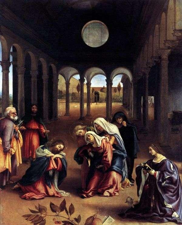 Прищание Христа с Матерью   Лоренцо Лотто