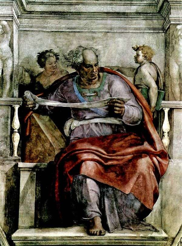 Пророк Иоиль (фреска)   Микеланджело Буонарроти