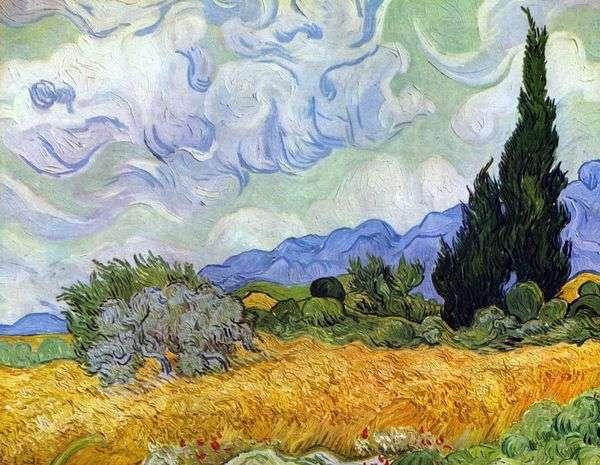 Пшеничное поле с кипарисами   Винсент Ван Гог