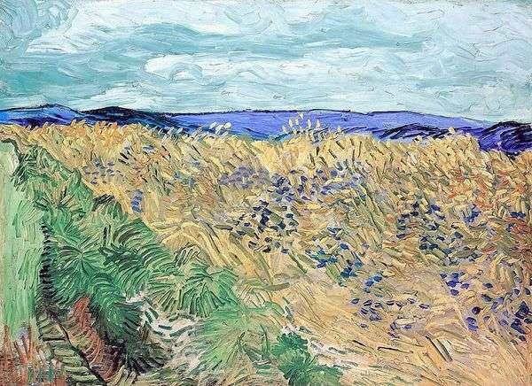 Пшеничное поле с васильками   Винсент Ван Гог