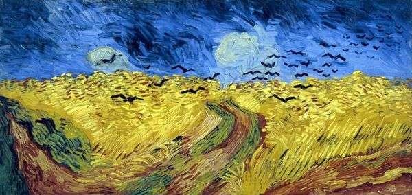 Пшеничное поле с воронами   Винсент Ван Гог