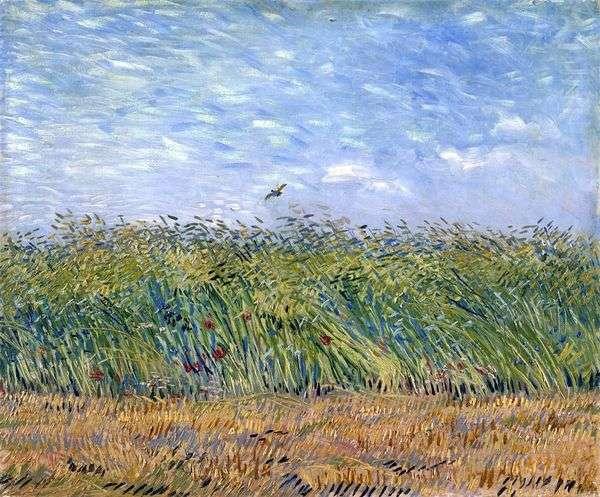 Пшеничное поле с жаворонком   Винсент Ван Гог