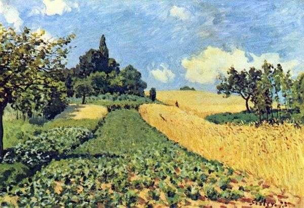 Пшеничные поля в Аржентее   Альфред Сислей