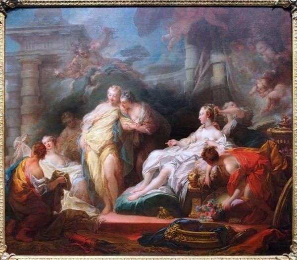 Психея показывает своим сестрам дары амура   Жан Оноре Фрагонар