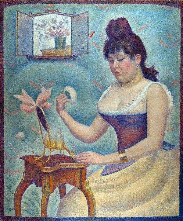 Пудрящаяся женщина   Жорж Сера