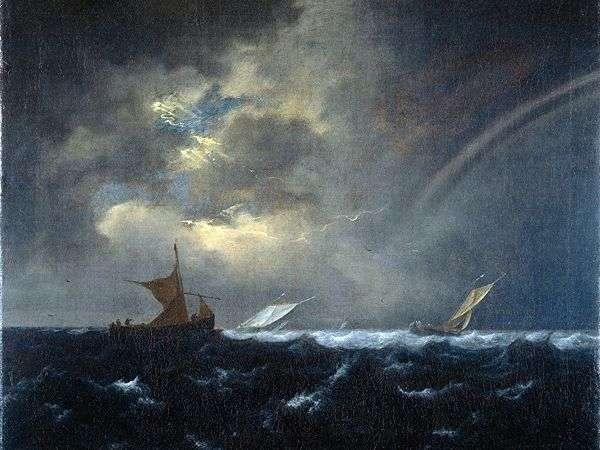 Радуга в штормовом море   Якоб ван Рейсдал