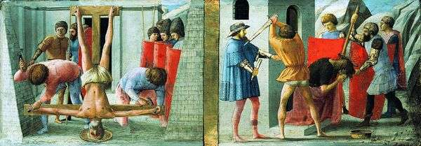 Распятие Петра и обезглавливание Иоанна Крестителя   Мазаччо