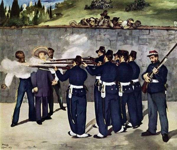 Расстрел императора Максимилиана   Эдуард Мане
