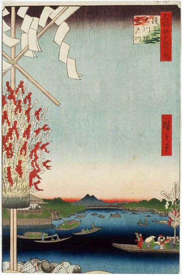 Река Асакусагава, река Миятогава, набережная Окавабата