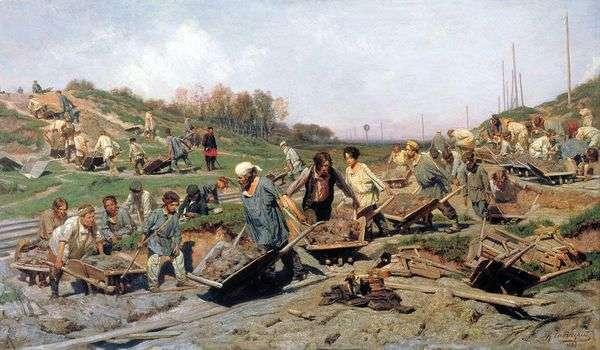 Ремонтные работы, на железной дороге   Константин Савицкий