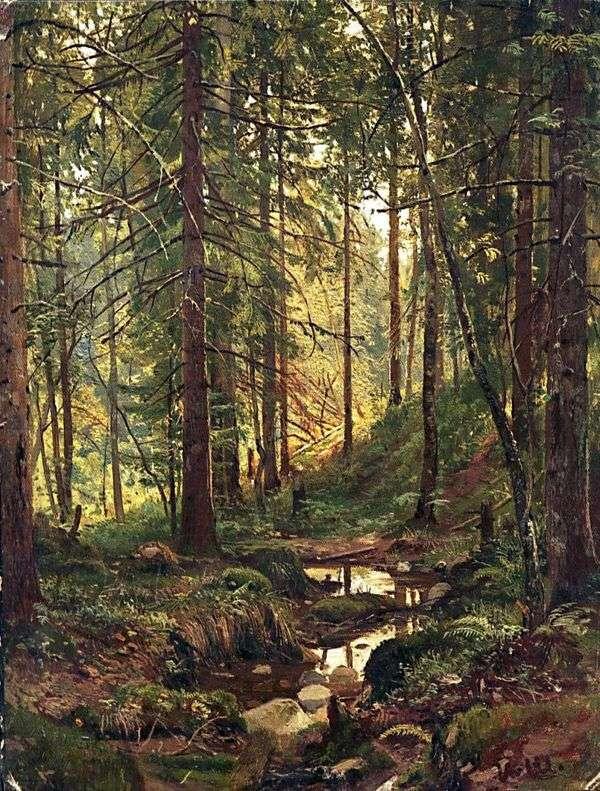 Ручей в лесу. Сиверская   Иван Шишкин