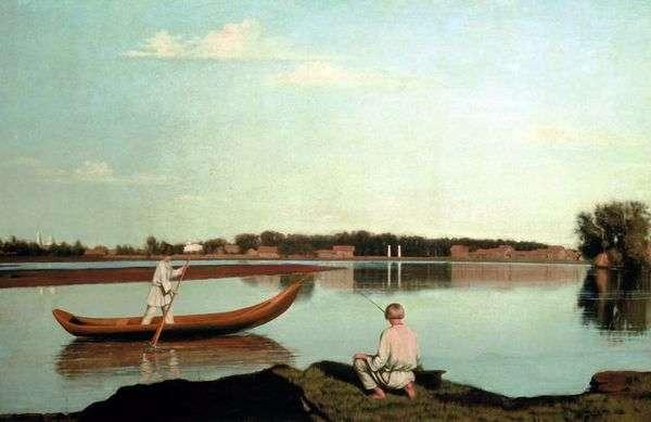 Рыбаки. Вид в имении Спасское   Григорий Сорока