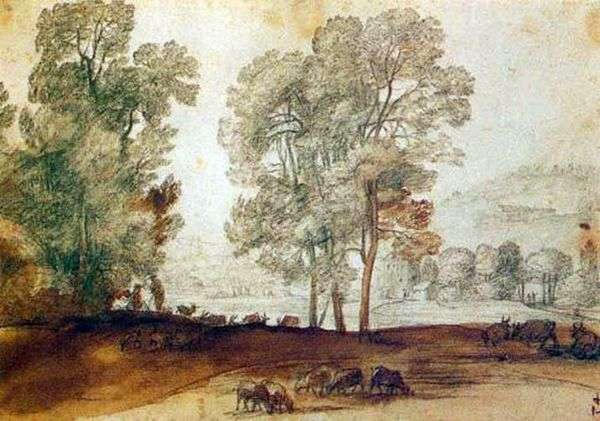 Сельский пейзаж   Клод Лоррен