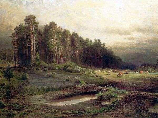 Сельский вид. Лосиный остров в Сокольниках. Пейзаж с избушкой   Алексей Саврасов