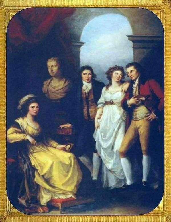 Семейный портрет Е. П. Барятинской   Кауфман, Ангелика