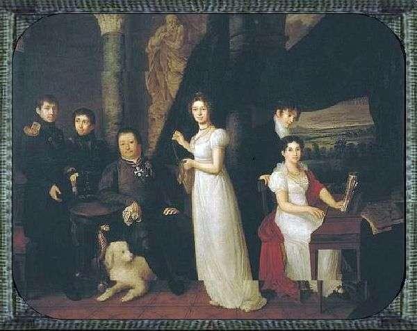 Семейный портрет Морковых   Василий Тропинин