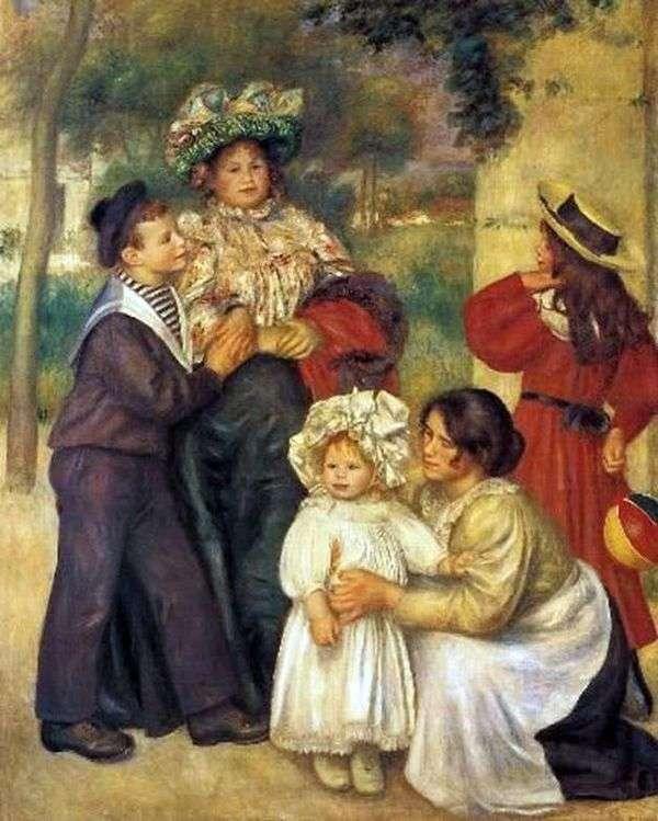 Семья художника   Пьер Огюст Ренуар