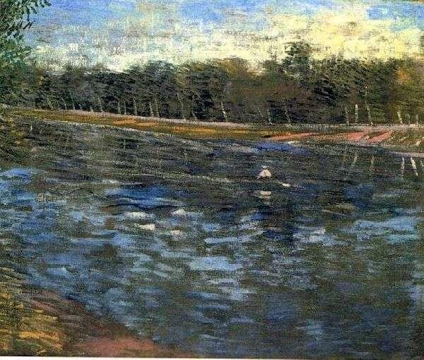 Сена и лодка с гребцом   Винсент Ван Гог