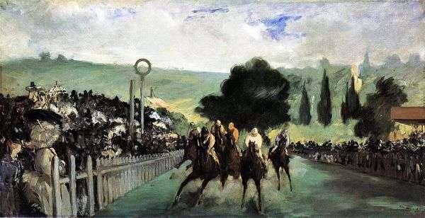 Скачки на Лоншане   Эдуард Мане