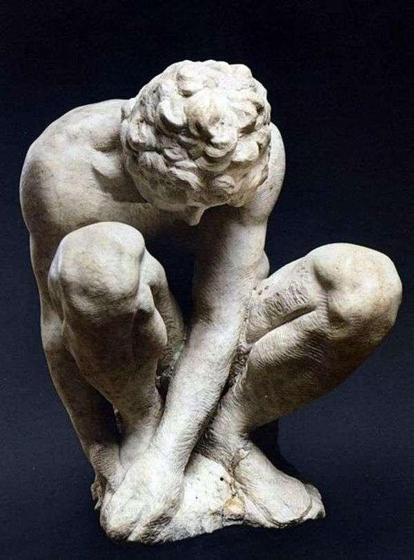 Скорчившийся мальчик   Микеланджело Буонаротти