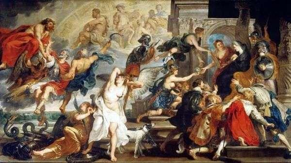 Смерть Генриха IV и провозглашениe регентства   Питер Рубенс