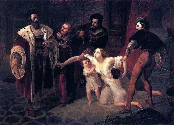 Смерть Инессы де Кастро   Карл Брюллов