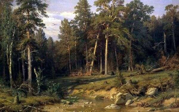 Сосновый бор. Мачтовый лес в Вятской губернии   Иван Шишкин