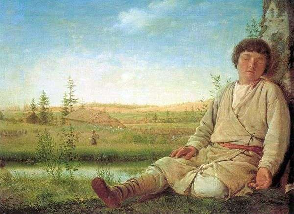 Спящий пастушок   Алексей Венецианов