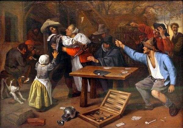 Спор за карточной игрой   Ян Стен