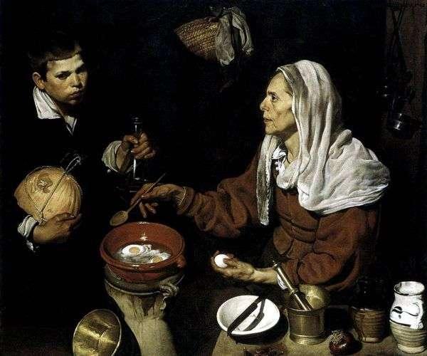 Старая кухарка   Диего Веласкес