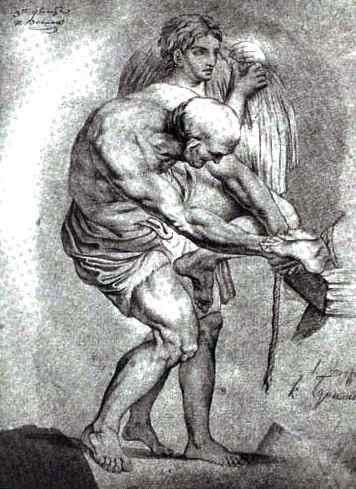 Старик и юноша со снопом   Карл Брюллов