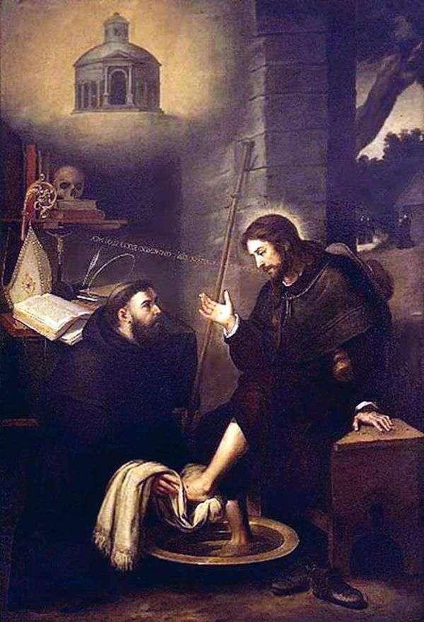 Св. Августин, моющий ноги Христу   Бартоломео Эстебан Мурильо