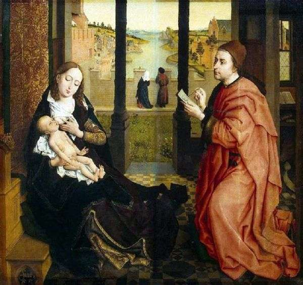 Св. Лука, рисующий Мадонну   Рогир ван дер Вейден