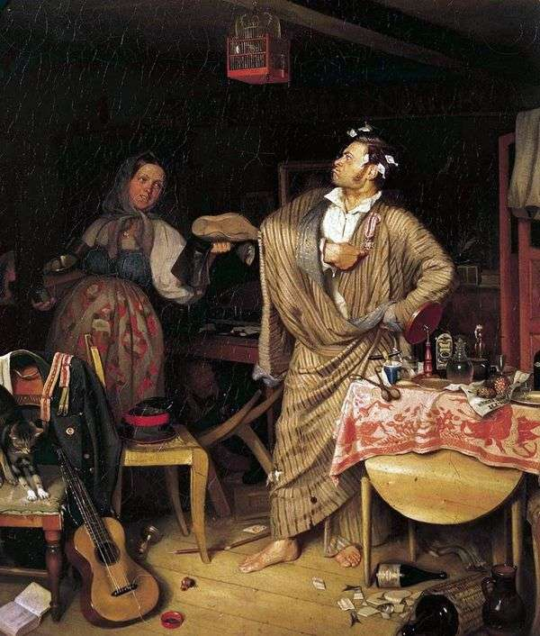 Свежий кавалер. Утро чиновника, получившего первый крестик   Павел Федотов