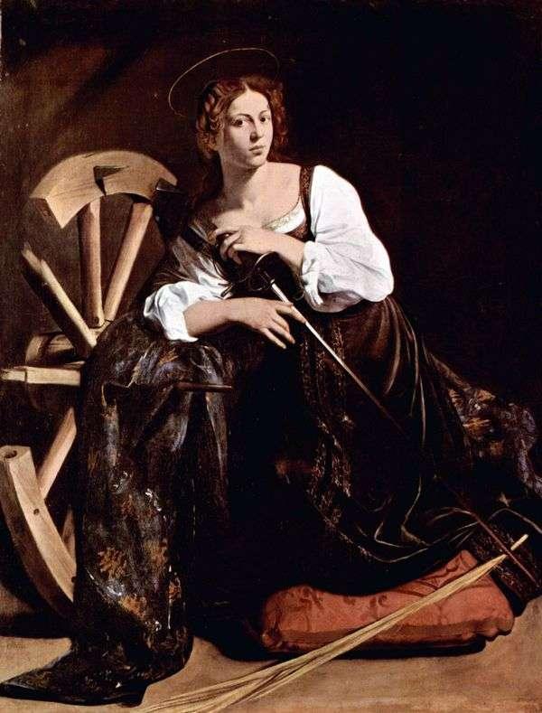 Святая Екатерина Александрийская   Микеланджело Меризи да Караваджо