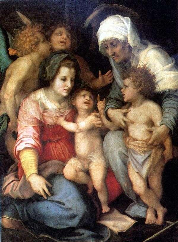 Святое семейство с ангелами   Андреа дель Сарто
