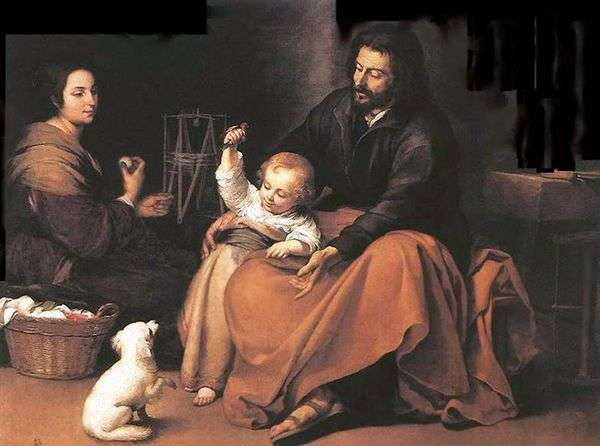 Святое Семейство с птичкой   Бартоломе Эстебан Мурильо