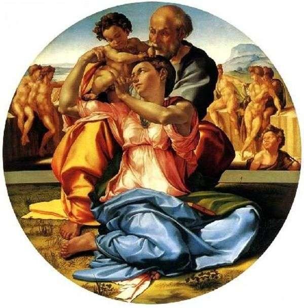 Святое Семейство (Тондо Дони)   Микеланджело Буонарроти
