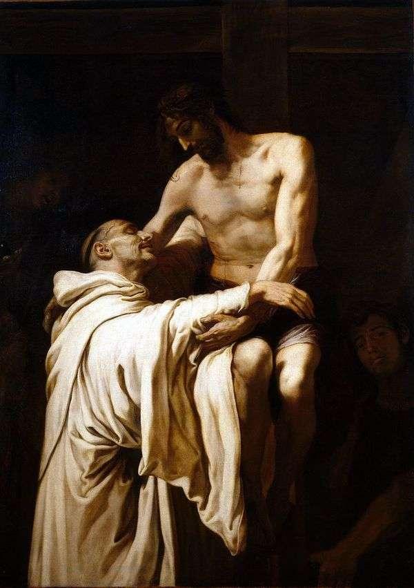 Святой Бернард обнимающий Христа   Франсиско Рибальта