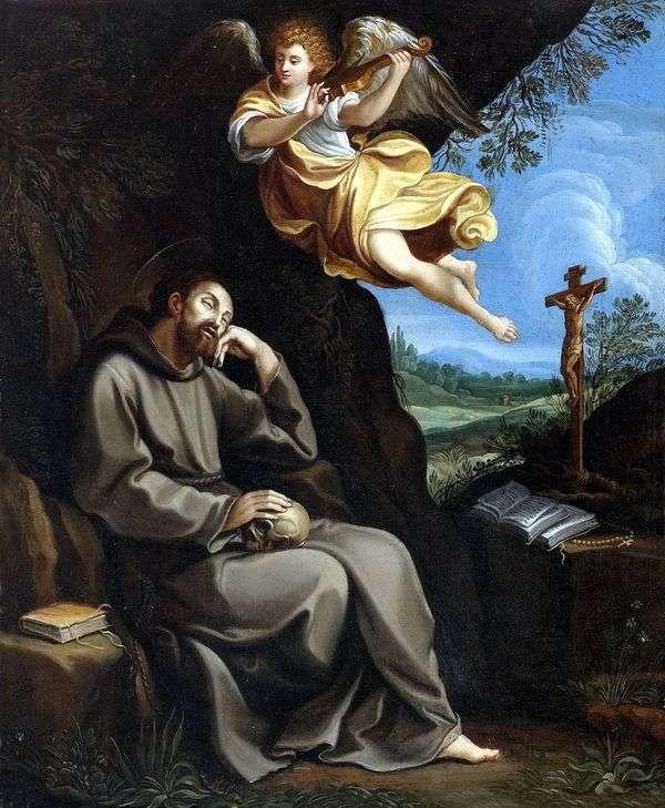 Святой Франциск и ангел   Гвидо Рени