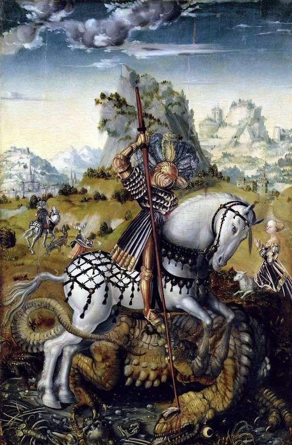 Святой Георгий и дракон   Лукас Кранах