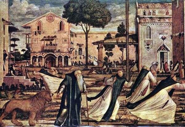 Святой Иероним приводит в монастырь льва   Витторио Карпаччо