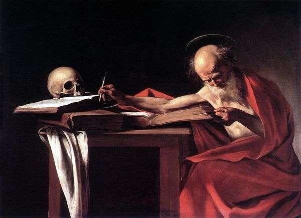 Святой Иероним за книгой   Микеланджело Меризи да Караваджо