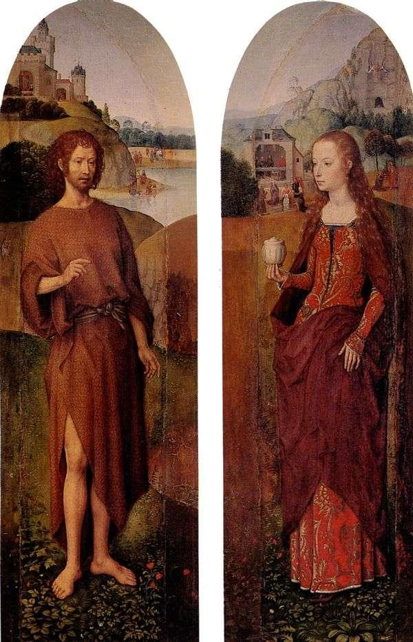 Святой Иоанн Креститель и святая Мария Магдалина. Боковые створки из триптиха   Ганс Мемлинг