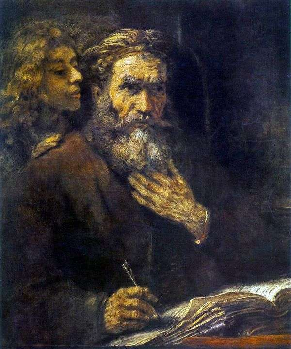 Святой Матфей и Ангел   Рембрандт Харменс Ван Рейн