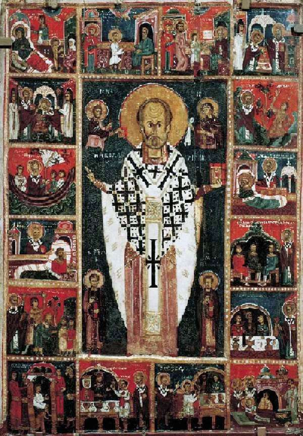 Святой Николай Чудотворец, с житием в 16 клеймах