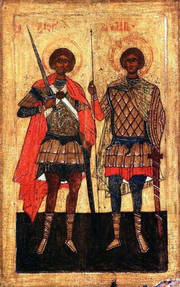 Святые Флор и Лавр в образе воинов