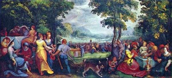 Сыны Израиля, пляшущие вокруг золотого тельца   Карел ван Мандер